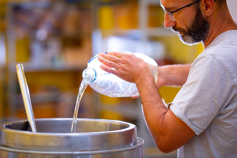 Pied de cuve et fermentation du mout - Eau